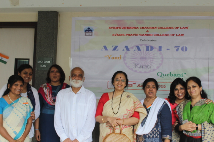 Faculty Members celebrating Independence Day