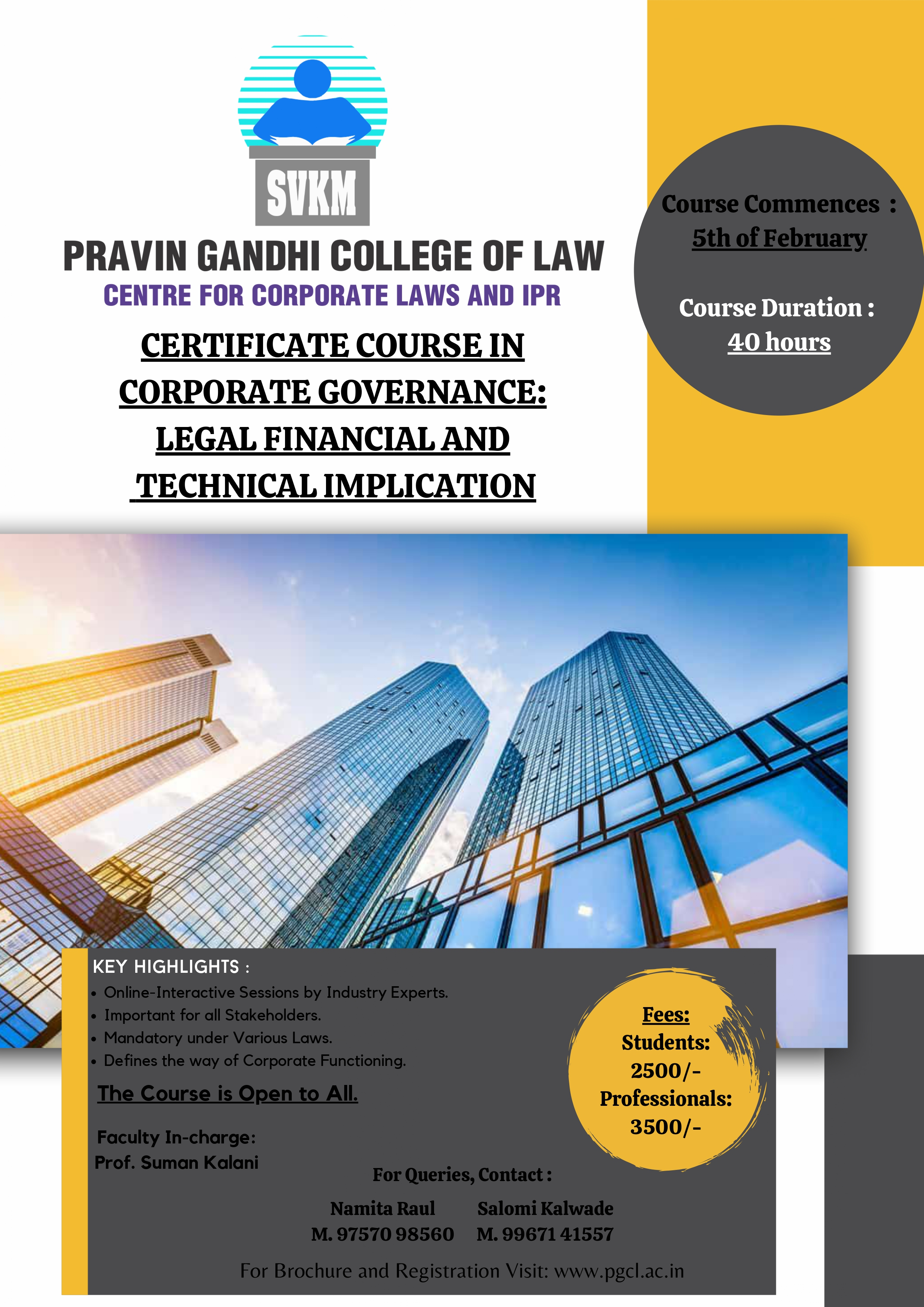 Certificate Course in Corporate Governance